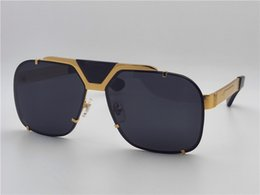 Chinese  New men fashion designer sunglasses retro design big face logo 2132 square vintage frame rimless UV lens top quality steampunk outdoor style manufacturers