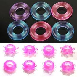 Coloré Silicon Cock Ring Cockrings Spike Anneau Pénis Anneaux Sex Toys Pour Hommes Anneaux D'éjaculation Retardée Produits de Sexe Pour Adultes en Solde