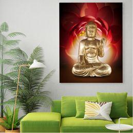 $enCountryForm.capitalKeyWord Australia - Framed Pure Hand Painted Asian Buddhist Art Oil Painting Buddha,Home Wall Decor High Quality Thick Canvas Multiple Size