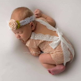Baby Girl Cute Bodysuits Pas Cher-Nouveau-né Baby Lace Romper Baby Girl Cute Summer Rompers Combinés Infant Toddler Photo Clothing Bodysuits en dentelle douce NC062