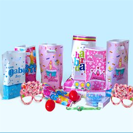 $enCountryForm.capitalKeyWord Canada - Birthday Party Bags Article Children Holiday Gift Decoration Kids Favour Bag Portable Wedding Candy Lolly Plastic Bags