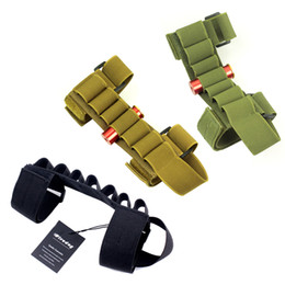 Discount ammo pouches - Tactical Buttstock Shotgun Shell Holder Carrier Ammo pouch For 12G 20G LEFT RIGHT HAND