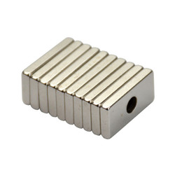 Neodymium Magnet Wholesale NZ - 10pcs 20mm * 10mm * 3mm Hole 4MM Rectangular Magnets 20x10x3 Rare Earth Neodymium Magnets Door Magnetite Neodimio Magneten
