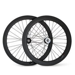 $enCountryForm.capitalKeyWord Canada - Full Carbon Fiber Track Bike Wheels 700C Clincher or Tubular Fixed Gear Wheel Clincher 23mm Width