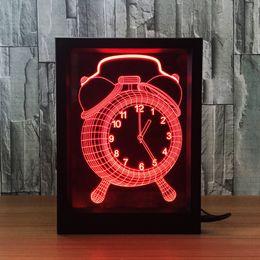 $enCountryForm.capitalKeyWord Australia - 3D Clock LED Photo Frame Decoration Lamp IR Remote 7 RGB Lights DC 5V Factory Wholesale Drop Shipping