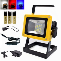 Wholesale Portable 24 LED Floodlight 10W Rechargeable Work Flood Light  Camping Lamp Waterproof For Outdoor Lighting With Battery Charger Outdoor  ...