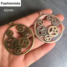 $enCountryForm.capitalKeyWord NZ - Fashionista 20pcs Big Round Peace Gear Pendant 42mm Antique Silver Bronze Alloy Charms Steampunk Jewelry Findings For DIY Crafts
