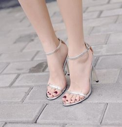 $enCountryForm.capitalKeyWord NZ - Hot Sale Vogue Summer Shoes Woman Supermodel T-stage Classic Dancing High Heel Sandals Sexy Stiletto Party Wedding Shoes