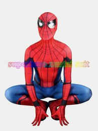 $enCountryForm.capitalKeyWord Canada - 3D Print 2017 New Spider-man Homecoming Spandex Zentai Costume Civil War Spiderman Costumes Spidey Cosplay Custom Movies Suit Free Shipping