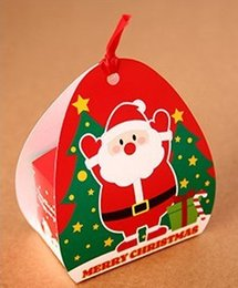 $enCountryForm.capitalKeyWord Canada - Free shipping mini red Christmas Santa Claus decoration cookie candy box gift packing boxes Christmas party supply favors