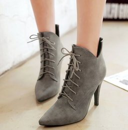 Boots Warm Up Canada - Wholesale New Arrival Hot Sale Specials Super Influx Warm Noble Martin Pointed Lace Up Naked Skin Party Heels Ankle Boots EU34-43
