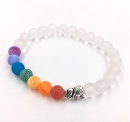 clay bracelets 2019 - Muti-color Design Mens Bracelets Black Lava 7 Chakra Healing Balance Beads Bracelet For Men Women Chakra Natural Stone S