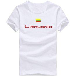 Quick Dry Sports T Canada - Lithuania T shirt Volleyball sport short sleeve Quick dry tees Nation flag clothing Unisex cotton Tshirt
