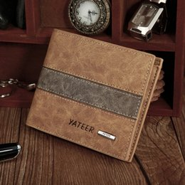 $enCountryForm.capitalKeyWord NZ - Free Shipping-European popular Men frosted spell leather wallet brief paragraph