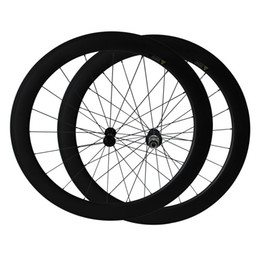CeramiC wheel bearings online shopping - 700C Full Carbon mm width U Shape Ceramic Bearing hub mm clincher carbon road bicycle wheels Only g Road Bike Wheelset
