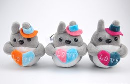 online shopping Kawaii New Colorful Love Totoro CM Plush Stuffed Toy DOLL Wedding Gift Plush Toys keychain sucker doll