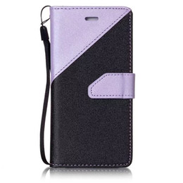$enCountryForm.capitalKeyWord UK - Hit Color Contrast Bling Sand Grain Wallet Leather Pouch Case For Iphone 7 I7 Plus Iphone7 6 6S SE 5 5S Matte Strap Stand Card Cover Luxury