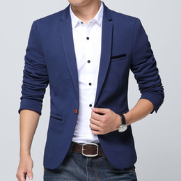 Veste De Marque Pas Cher-Wholesale- 2017 designer men Suit Jackets Autumn Slim blazer mâle casual Blazer hommes de haute qualité Business Blazer pour hommes 6XL