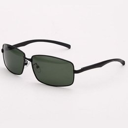 SunglaSSeS man polariSed online shopping - Mens Polarized Sunglasses Rectangle Shape Metal Frame Polarised Green PC Lens Cheap UV400 Glasses Eyewear Lunette de Soleil Pas Cher