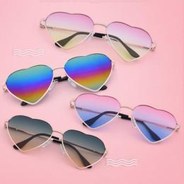 $enCountryForm.capitalKeyWord Canada - Sunglasses 21 Color love heart Glasses Retro metal glasses for Fashion women men With bag packaging