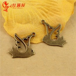 peace dove jewelry Canada - 16*15MM Antique Bronze peace dove pigeon charms for bracelet, vintage metal bird pendants for necklace, diy alloy jewelry making findings