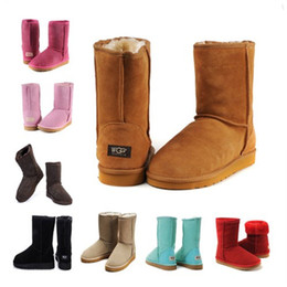 PurPle flat calf high boots online shopping - 2018 New WGG Australia Classic snow Boots High Quality Cheap women winter boots fashion discount Ankle Boots shoes many color size5