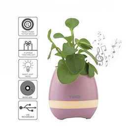 China Smart Touch Plant Piano Music Playing Night Light Flowerpot Wireless Bluetooth Speaker supplier night light mp3 player suppliers