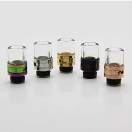 China Air Flow Adjustable Glass SS 510 Drip Tips Stainless Steel Ego Vaporizer Mouthpieces For E Cig Vapor RDA Sub Ohm Tank Rebuildable Atomizers supplier glass rda rebuildable atomizer suppliers