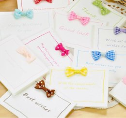 Wholesale Free ship pc Small fresh bow festival card Invitation business holiday birthday card greeting card