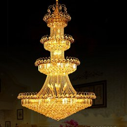 Discount minimalist luxury lighting - LLFA1506 Free shipping Luxury villa living room chandelier crystal chandelier modern minimalist chandelier light long do