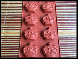 $enCountryForm.capitalKeyWord Australia - wholesale 6 holes crown Cake Mold Flexible Silicone Soap Mold For Handmade Soap Candle Candy bakeware baking moulds kitchen tools ice molds