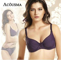 d3b3be307bd76 Big Brand ACOUSMA women underwear bra set sexy purple Embroidery bra briefs sets  push up bras conjunto calcinha e sutia BS272