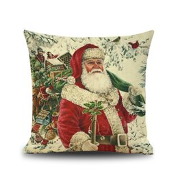 $enCountryForm.capitalKeyWord UK - Santa series cushion cover linen pillowcase square traditional design typical pattern 6 types decorative daily use shop showcase garden use