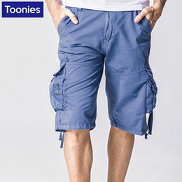 Discount Mens Cotton Cargo Shorts Elastic Waist | 2017 Mens Cotton ...