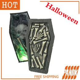 wholesale coffin trinket box halloween coffin with led halloween decorations props haunted house ideas halloween tombstone party yard
