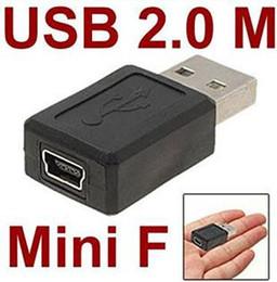 Ipad Female NZ - Wholesale USB 2.0 A type male to Mini 5pin USB B type 5pin female Connector Adapter convertorc 300pcs lot FREE SHIPPING