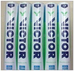 Vente en gros Vente chaude Victor CHAMPION NO.3 Badminton Volant de Qualité Garanti Volant De Haute Qualité Jeu Balles 12 Pièces 5 Dizaines Livraison Gratuite