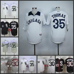 c51d5266c ... Mens Chicago White Sox Jersey 35 Frank Thomas Throwback Cool Base Flex  Base White Stripe Throwback ...