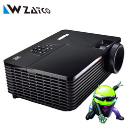 Proyector Wifi Australia - Wholesale-5500ANSI lumens Android 4.4 Miracast wifi-display home theater Daylight HDMI 1080p full HD 3D DLP Projector Proyector beamer