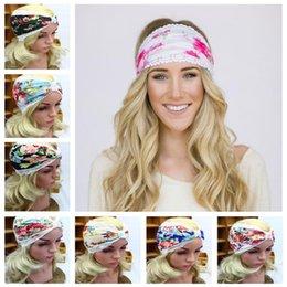 Ingrosso L'Europa e gli Stati Uniti hanno stampato i hairbands di sport di modo della fascia dei capelli del pizzo con la fascia dei capelli di yoga CA200