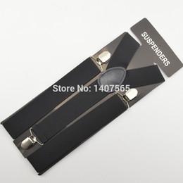 Mens y back clip suspenders online shopping - Mens Suspender cm wide women Big plussize solid black Suspenders Clip on Y Back Braces Elastic Suspender cm110cm120cm
