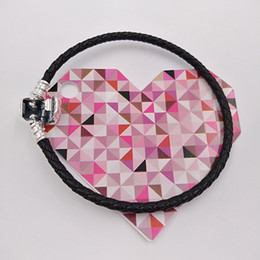 Woven silver chain online shopping - Authentic Sterling Silver Moments Single Woven Leather Bracelet Black Fits European Pandora Style Jewelry Charms Beads CBK S Hot