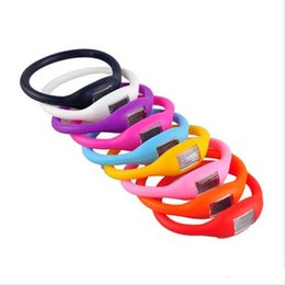 Silicone Wristband Pedometer Canada - free shipping Color Anion Pedometers Silicone Fitness Tracker Silicone Wristband Bracelet Pedometer Potable Outdoors Tools Fashion