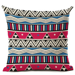 Ethnic Decor Canada - ethnic bohemian throw pillow case for chaise chair sea anchor cushion cover cartoon moroccan office decor scandinavian cojines