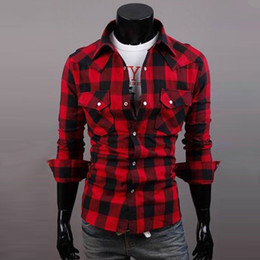 Mens Red Check Shirt Online | Mens Red Check Shirt for Sale