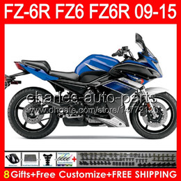 $enCountryForm.capitalKeyWord Australia - 8gifts For YAMAHA FZ6R 09 10 11 12 13 14 15 FZ6N FZ6 gloss blue 89NO144 FZ-6R FZ 6R 2009 2010 2011 2012 2013 2014 2015 blue black Fairing