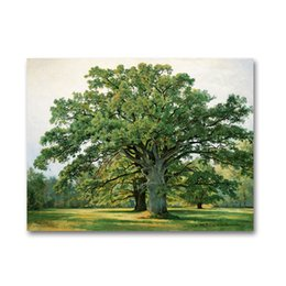 China ARTPIONEER Russian painter Shishkin forest landscape canvas prints countryside landscape oil painting wall decoration picture suppliers