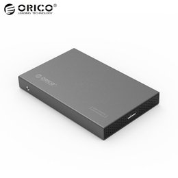 China Wholesale- Original ORICO High Speed Aluminum 2.5 inch Hard Drive Enclosure USB 3.0 Sata 3.0 Tool Free HDD SSD Case Portable cheap sata drive speeds suppliers