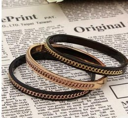 $enCountryForm.capitalKeyWord Australia - New Korean version of the retro fashion black chain between the chain of titanium steel bracelet ladies charm wild bracelet manufacturers