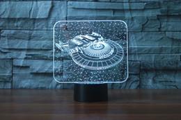 $enCountryForm.capitalKeyWord Australia - Free Shipping Amazing Star Trek NCC 1707 Led 3D Night Light USB Remote Desk Lamps For Kids Children Boys Christmas Birthday Gift Room Decor